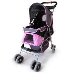 Sporty Pet Stroller - Love Pink FS910-P