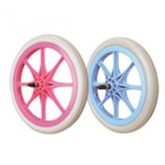 PP or Nylon PU  -  Plastic wheels,Bike wheels
