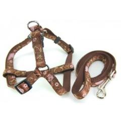 Ribbon overlay Dog Harness/Leash