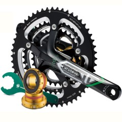 External BB Axle Integrated Triple-Chainring Crankset for BB30