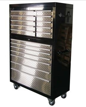 "41"" 17 Drawers Powder-Coated Tool Ch"