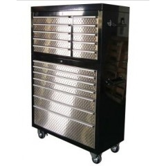 "41"" 17 Drawers Powder-Coated Tool Chest"