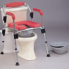 3 in 1 Deluxe Foldable Commode / Shower Chair