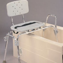 Sliding-Transfer Tub Shower Bench