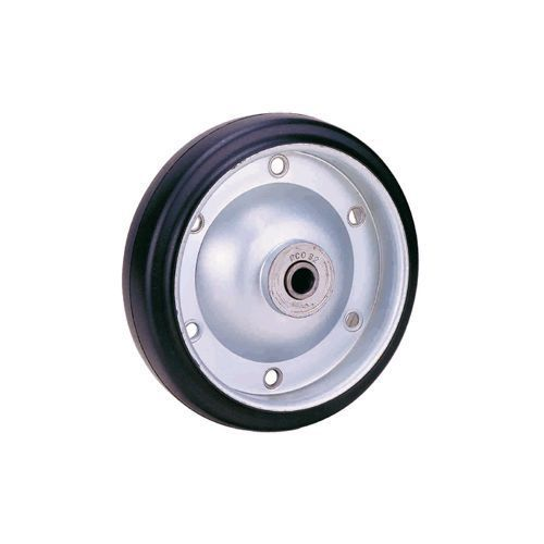 HI-ELASTIC RUBBER ON METAL CORE WHEELS