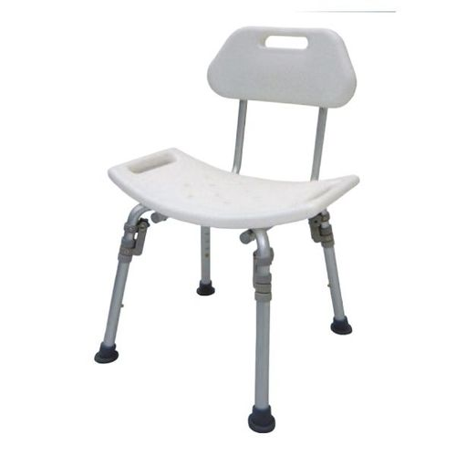 HS7121 Bath Bench, Detachable Back, Individual Folding Legs