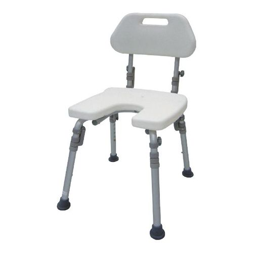 HS7211 U-shape Bath Bench, Detachable Back, Individual Folding Legs