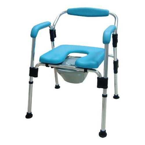 HT2093 Alum. Over-Toilet, Detachable Back, PU Seat, K/D Assembly