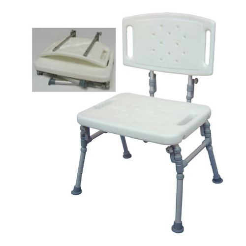 HS9B11S Foldable Shower Bench With Backrest