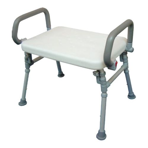 HS9A02S Foldable Shower Bench With Flip-up Arms
