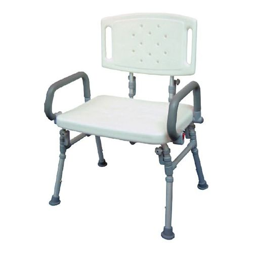 HS9A12S Foldable Shower Bench With Backrest Flip-up Arms