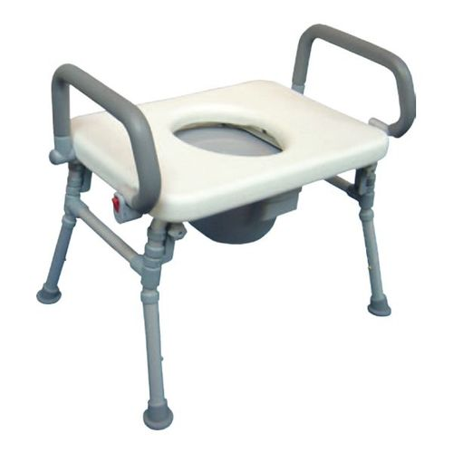 HS9C05S Foldable Commode Chair / Over Toilet Chair With Flip-up Arms