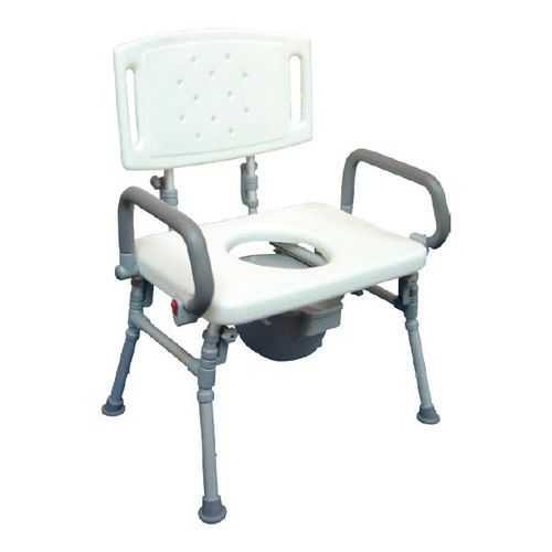 HS9C15S Foldable Commode Chair / Over Toilet Chair With Flip-up Arms