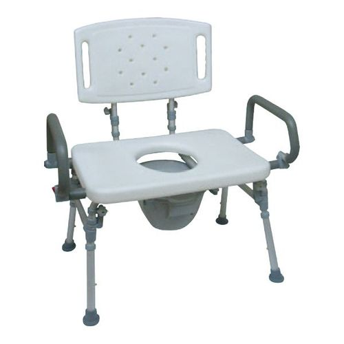 HS9G151L Foldable Commode Chair / Over Toilet Chair With Back & Flip-up Arms
