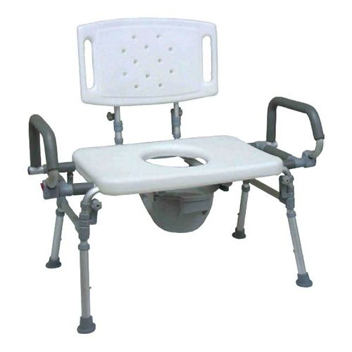 HS9G153L Foldable Commode Chair / Over Toilet Chair With Back & Flip-up Arms