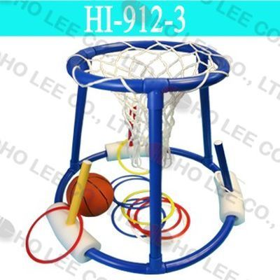 3-in-1 floating Basketball set with Toss Ring in 4 colors (x 3pcs)