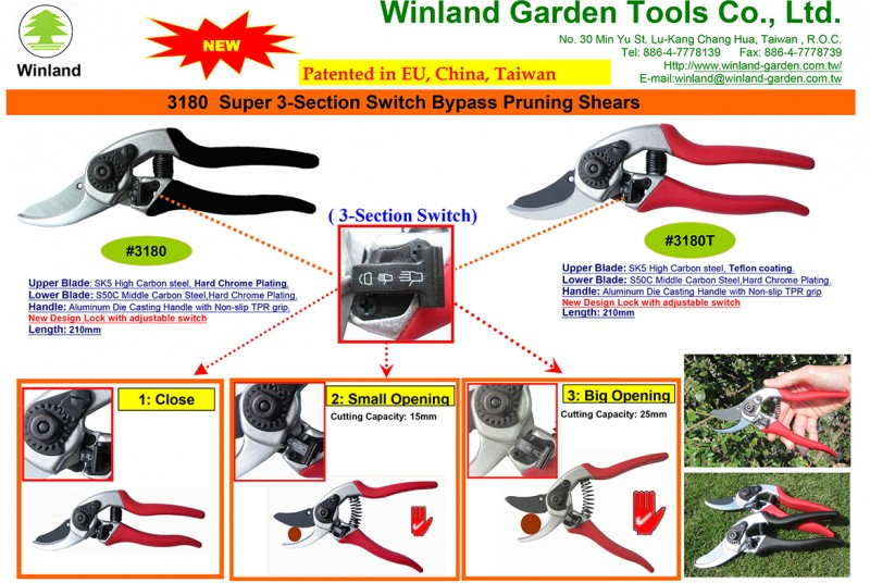 Winland #3180 New Pruning Shears