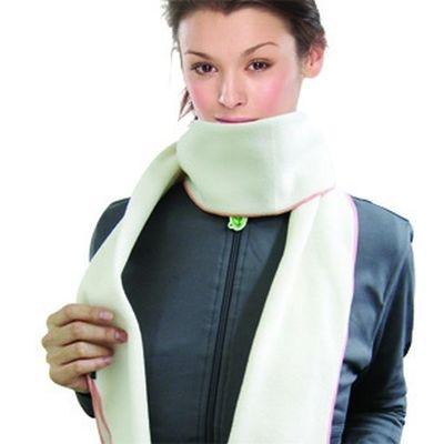 Light Ray comb-wool neckerchief (White) AHC701