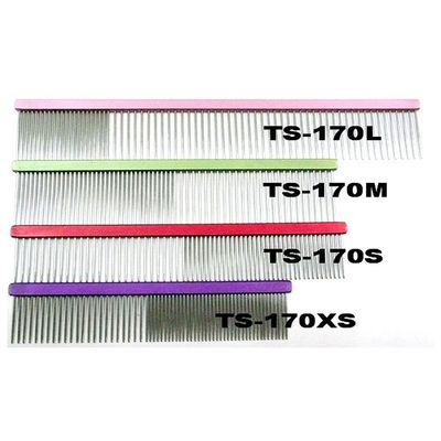 Stainless Steel Coarse Comb, Aluminum handle, Grooming tool, High quality