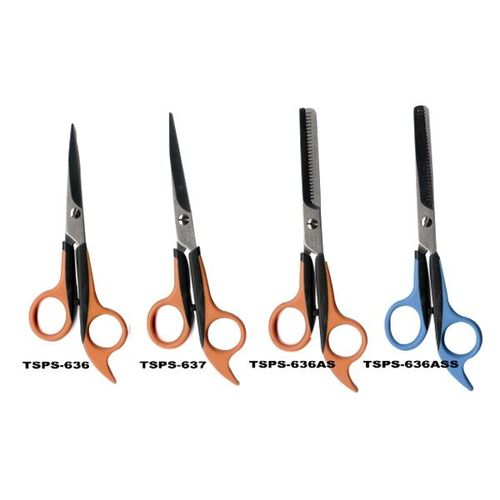 Soft Handle Scissors, Single & Double thinning, High quality, Double color design