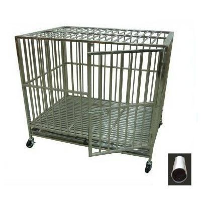 Stainless Steel Dog Cage, Circular tube