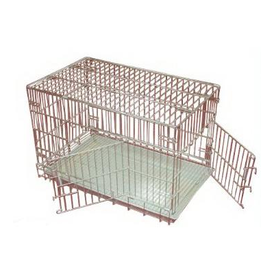 Stainless Steel Folding Cage, Double door design