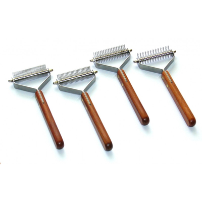 Y-style hooked comb, Grooming tool, De-matting comb