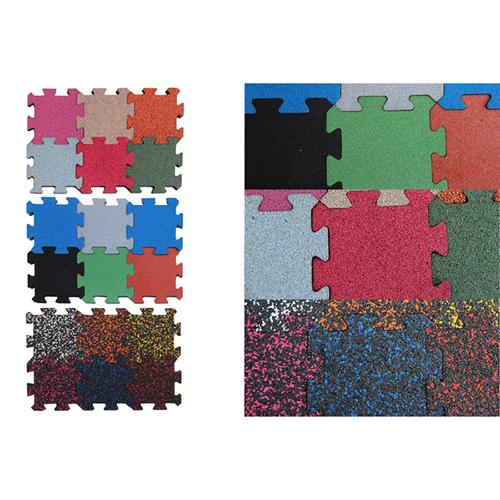 DIY Jigsaw rubber mat for fitness centers BR-001