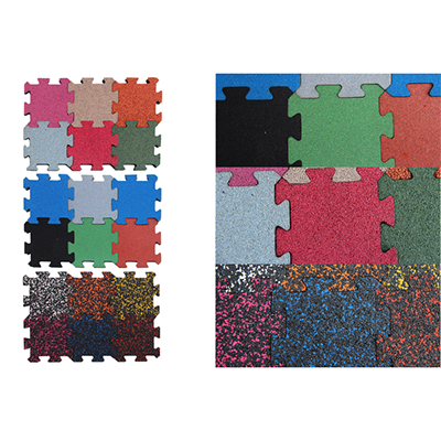 DIY Jigsaw rubber mat for fitness centers BR-001