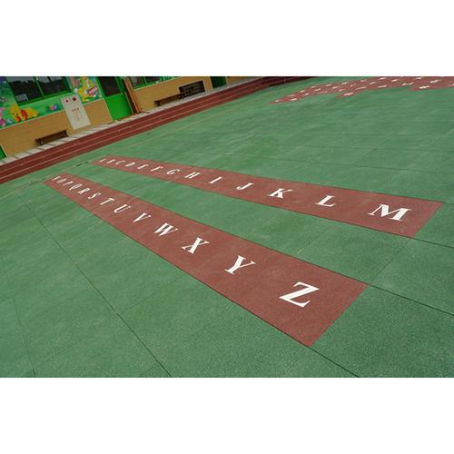 DIY Jigsaw rubber mat for fitness centers BR-007