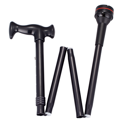 Aluminum foldable and height adjustable cane CK1-41AAA-N005
