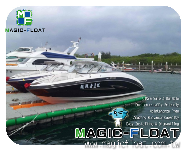 Drive-on Dock-23ft boat on MagiFloat02