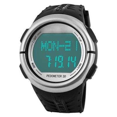 Pedometer of heart rate watch