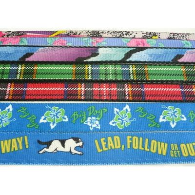 Heat Transfer Printed Webbing, Multicolor, Antique pattern, High quality