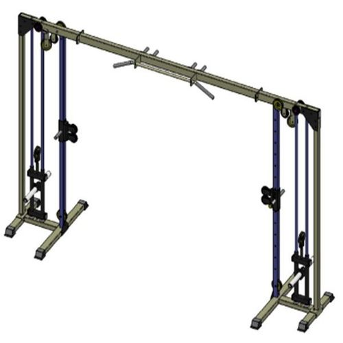 Free weight cable crossover machine