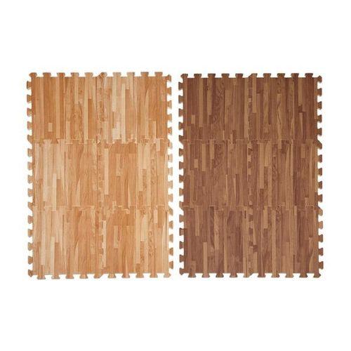 wood printed interlock mat