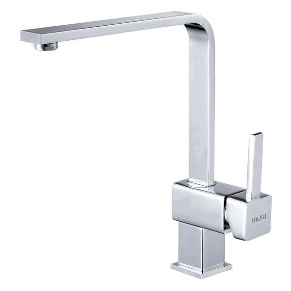 Lead-Free Goose Neck Square Single-Hole Kitchen Faucet AB-KD-041