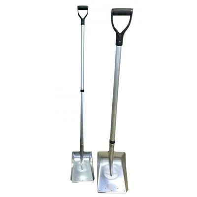 aluminum shovel with stainless blade