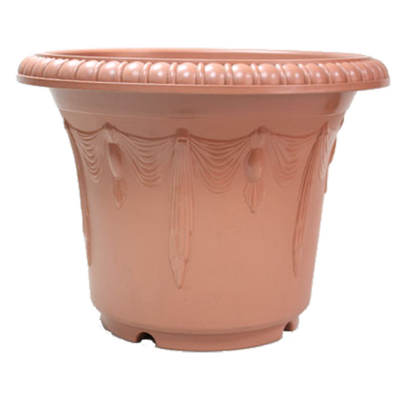 ROD668 Embossed Curtain Round Pot