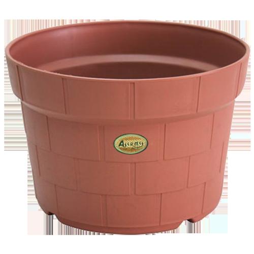 ROD060 Round Pot  in Brick Pattern