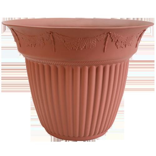 ROD606 Embossed Tulip Round Pot