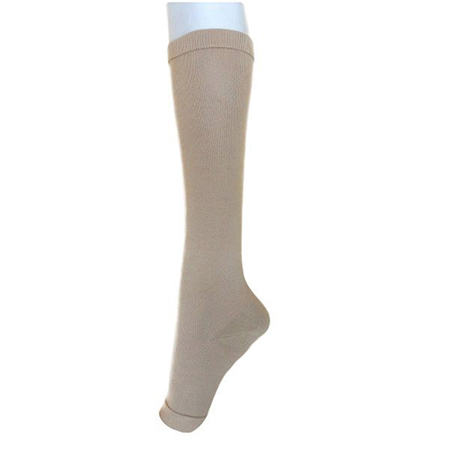 Compression Knee-High Socks w/Open Toe-HS-3601