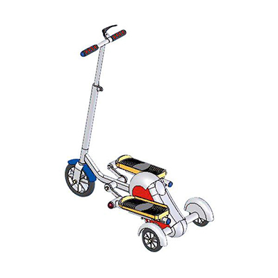 Elliptical-step Fitness Scooter
