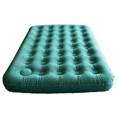 Flocked Air Bed With Built-In Foot Pump(2 person) 126001