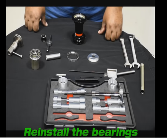 Service your hub reinstall bearings D542SB