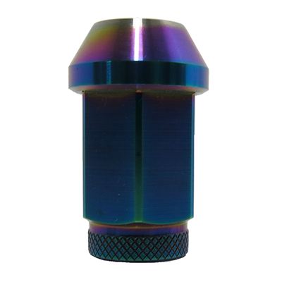Titanium Hexagonal Nut PVD Burn Blue