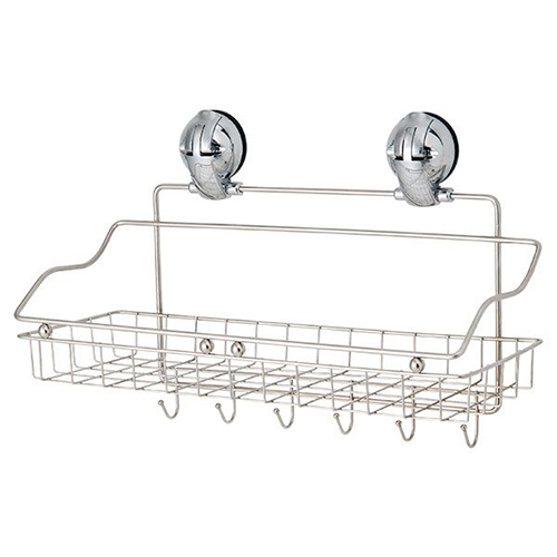 Multifunctional Stainless Steel Basket / Hanger w/Suction Pad C505009