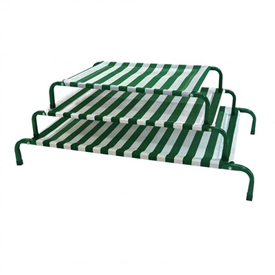(P11121~P11123) Classic Dog Bed - Green & White