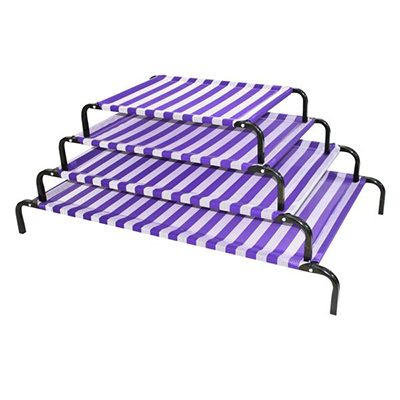 (P11105~P11108) Classic Dog Bed - Purple & White