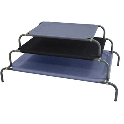 (P11209~P11211) Deluxe Dog Bed - Gray / Black